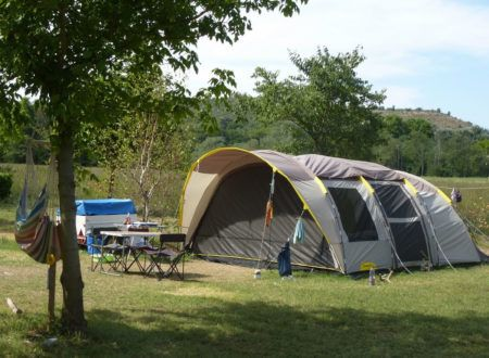 The camp-site pitches