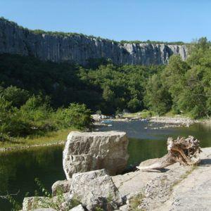 Ardèche Fluss in Chauzon