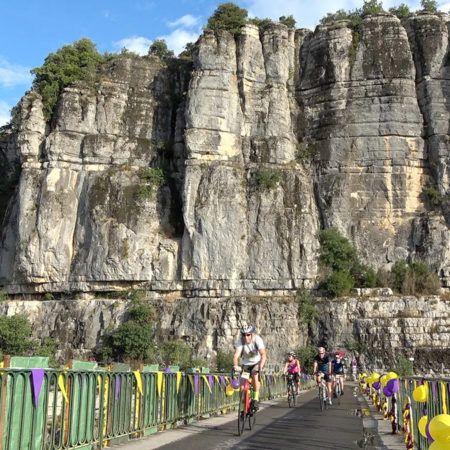 Radrennens der Ardèchoise in Balazuc