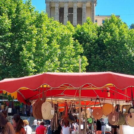 Sommermarkt in Largentière