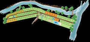 Karte des Campingplatzes