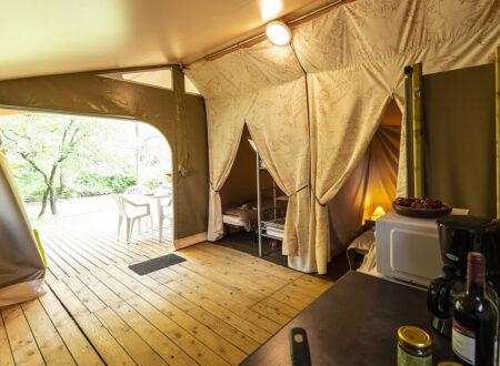 Tente Lodge Canada | Hébergement insolite Ardèche